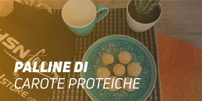 Palline di Carote e Cocco Proteiche