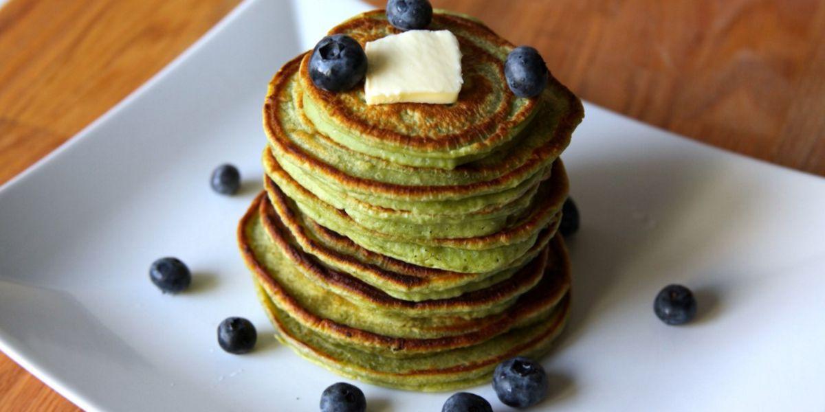 Pancakes d'Avena con Tè Matcha