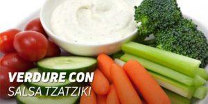 verdure con salsa tzatziki