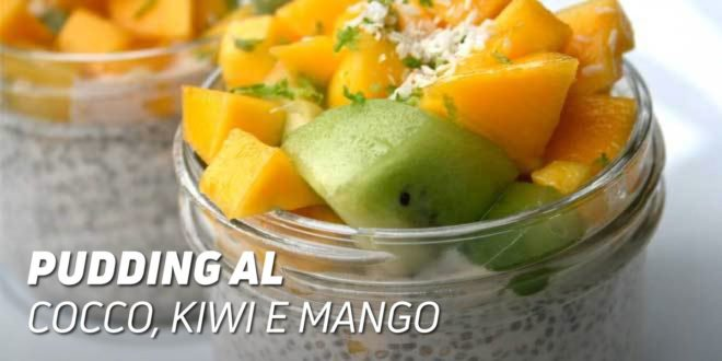 Pudding al Cocco con Kiwi e Mango