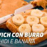 Sandwich burro di arachidi e banana