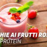 Smoothie frutti rossi e whey protein