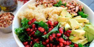 insalata quinoa e melograno