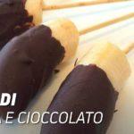 Snack di banana e cioccolato