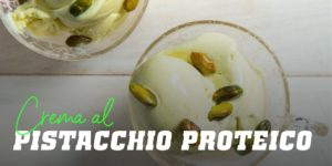 Crema al pistacchio proteico