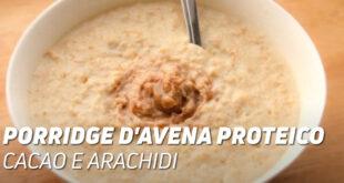 Porridge di Avena Proteico con Cacao e Arachidi