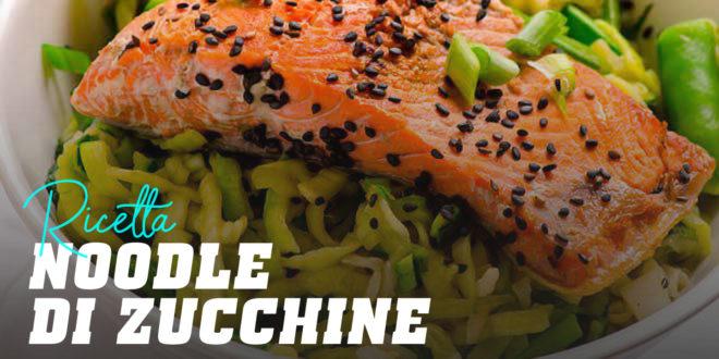 Noodle di Zucchine con Salmone