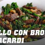 Ricetta vitello con broccoli e anacardi