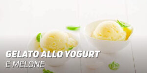 Gelato allo yogurt e melone