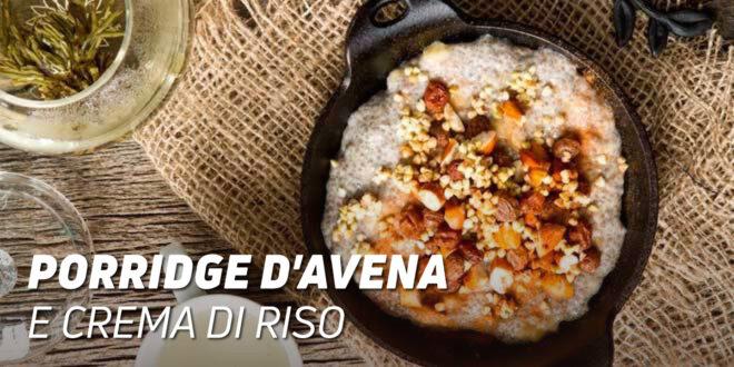 Porridge d'Avena e Crema di Riso con Semi