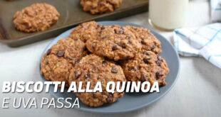 Biscotti alla quinoa e uva passa
