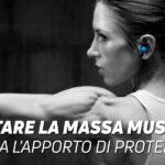 Aumentare la masa muscolare ottimizza l'apporto di proteine