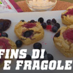 Muffins di soia e fragole