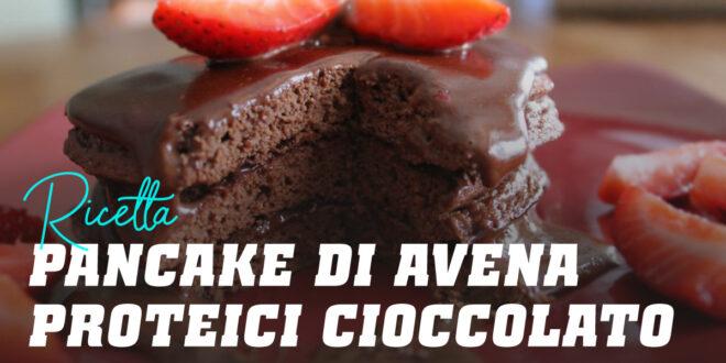 Pancake di Avena con Crema di Cioccolato Proteica