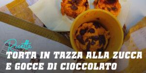Mug Cake di Zucca con Chips di Cioccolato