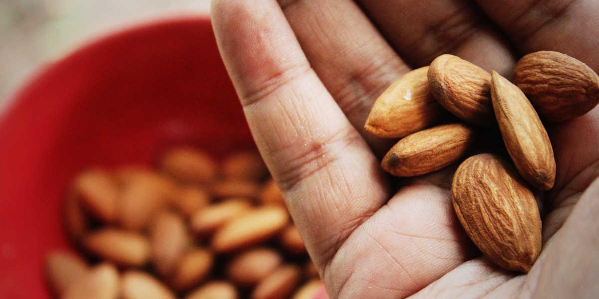 Quanto potassio contengono le mandorle?