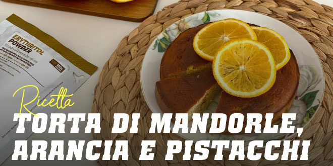 Torta di Mandorle e Arance con Pistacchi