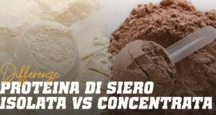 Differenze tra Proteina del Siero del Latte Isolata e Concentrata