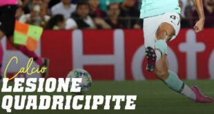 Lesione del Quadricipite nel Calcio
