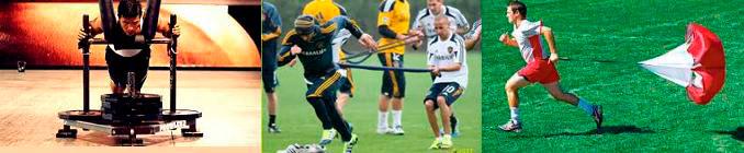 Sprints courts entraînement de force au football