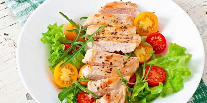 Salade au Poulet et Oeuf