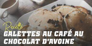Pancakes à l'Avoine avec Café et Pépites de Chocolat