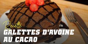 Pancakes à l'avoine et au cacao