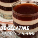 Coupe de gélatine de café et mascarpone