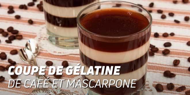 Coupe de Gélatine de Café et Fromage Mascarpone