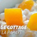 Fromage cottage à la papaye