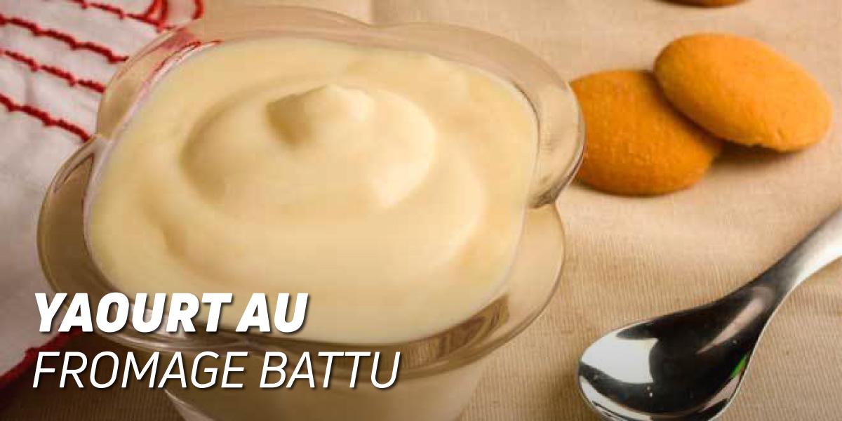 Mix de Yaourt avec du Fromage Frais Battu