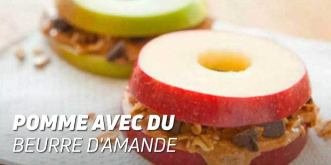 Pomme avec du Beurre d'Amande et Crumps au Chocolat