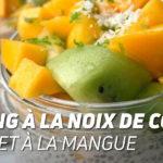 Pudding à la noix de coco et aux fruits