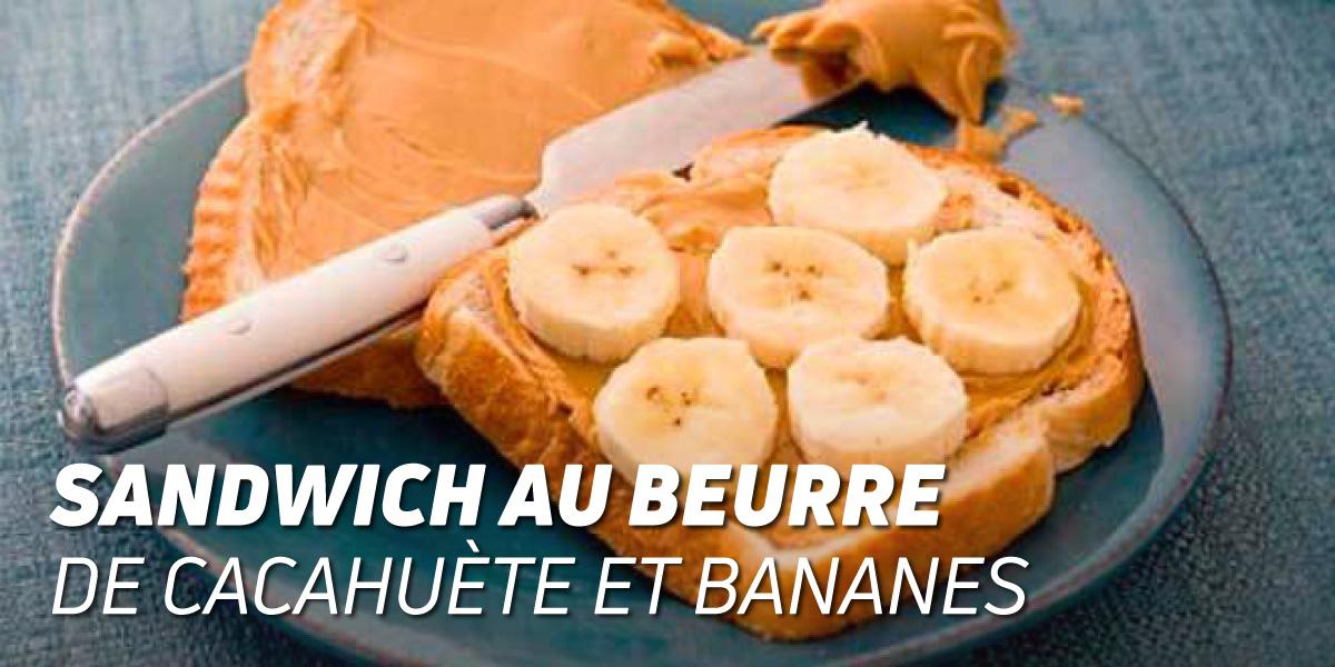 Sandwich de Beurre de Cacahuète et Banane