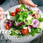 3 recettes faibles en calories