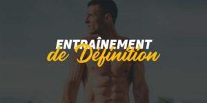 entraînement de définition
