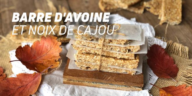 Barres à l'Avoine et Noix de Cajou