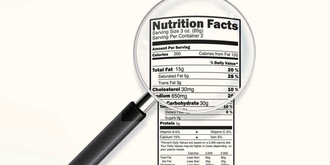 Étiquettes Nutritionnelles
