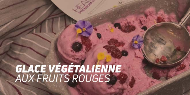 Glace Veggie aux Fruits Rouges