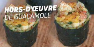 Hors d'oeuvre de guacamole