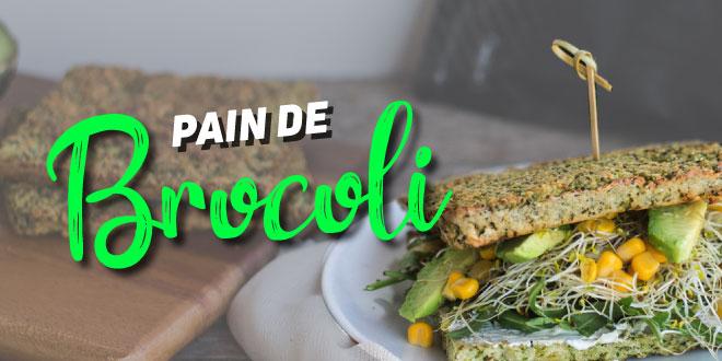 Sandwich avec du Pain de Brocoli