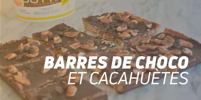Barres Énergétiques au Chocolat et aux Cacahuètes