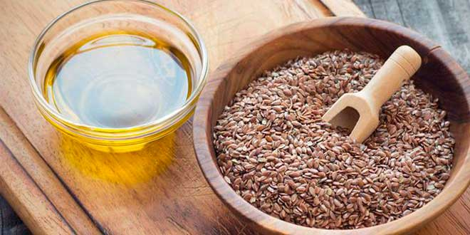 Prendre de l'huile de lin