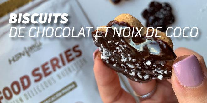 Biscuits Sains de Chocolat et Noix Coco