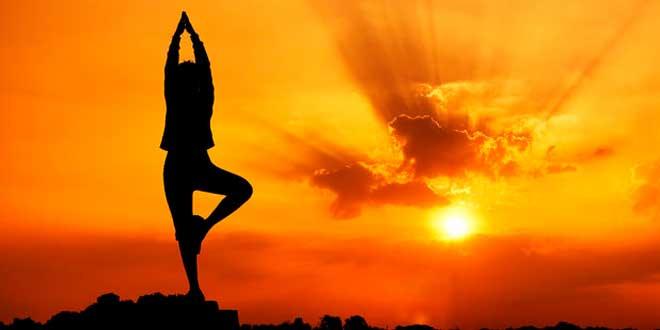 Yoga à la tombé du soleil