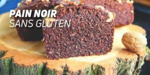 Pain noir sans gluten