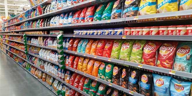 couloir d'un supermarché