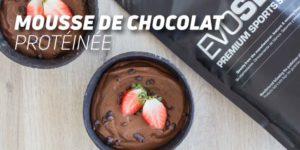 Mousse de Chocolat protéinée