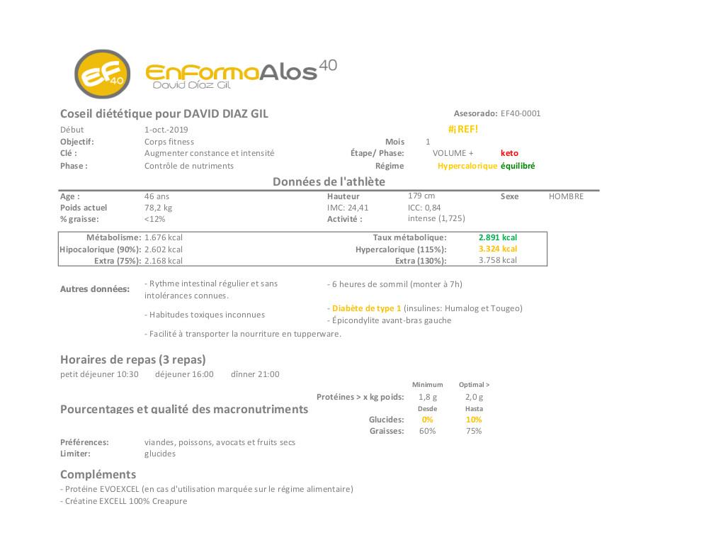 Info régime