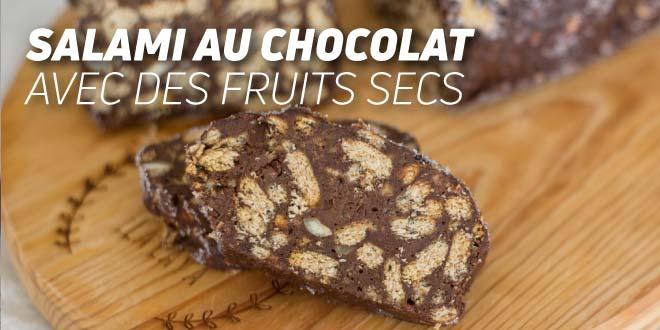 Salami au Chocolat avec des Fruits Secs